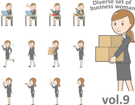 Diverse set of business woman, EPS10  format vol.9