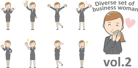 Diverse set of business woman, EPS10  format vol.2