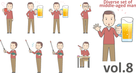 Diverse set of middle-aged man , EPS10 vector format vol.8