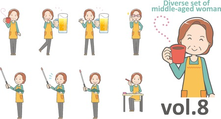 age old: Diverse set of middle-aged woman , EPS10 vector format vol.8 Illustration