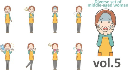 Diverse set of middle-aged woman , EPS10 vector format vol.5 版權商用圖片 - 67666491