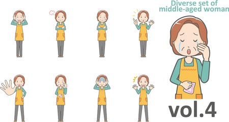 Diverse set of middle-aged woman , EPS10 vector format vol.4
