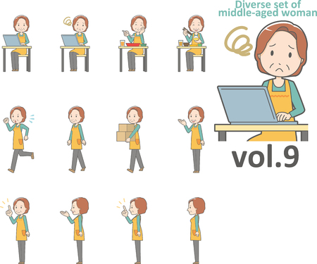 Diverse set of middle-aged woman , EPS10 vector format vol.9