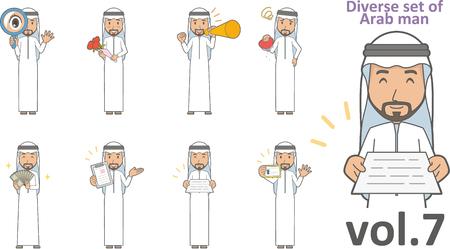 Diverse set of Arab man