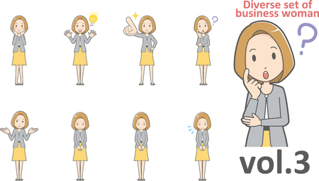 Diverse set of business woman , EPS10 vector format vol.3