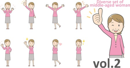 Diverse set of middle-aged woman , EPS10 vector format vol.2