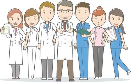 의사 및 기타 병원 직원