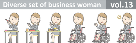 Diverse set of business woman , EPS10 vector format vol.13
