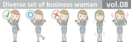 ビジネスの女性は、EPS10 ベクトル形式 vol.08 の多様なセット