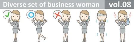 Diverse set of business woman , EPS10 vector format vol.08 Ilustração