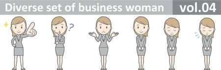 ビジネスの女性は、EPS10 ベクトル形式 vol.04 の多様なセット 写真素材 - 69784133