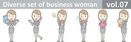 Diverse set of business woman , EPS10 vector format vol.07