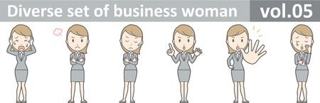 Diverse set of business woman , EPS10 vector format vol.05