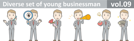 Diverse set of young businessman , EPS10 vector format vol.09