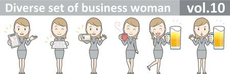 Diverse set of business woman , EPS10 vector format vol.10 Ilustração