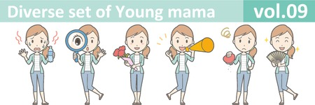 Diverse set of young mama , EPS10 vector format vol.09