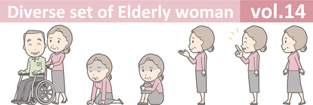 Diverse set of elderly woman , EPS10 vector format vol.14