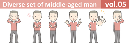 Diverse set of middle-aged man , EPS10 vector format vol.05