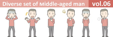 Diverse set of middle-aged man , EPS10 vector format vol.06