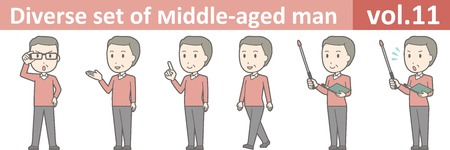 Diverse set of middle-aged man , EPS10 vector format vol.11