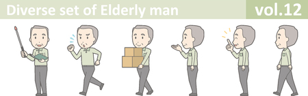 Diverse set of elderly man , EPS10 vector format vol.12