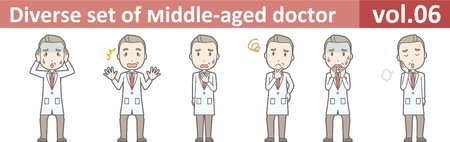 Diverse set of middle-aged male doctor,EPS10 vector format vol.06