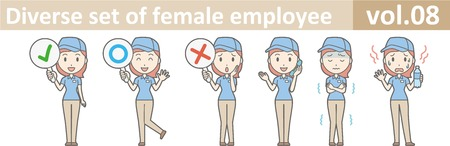 Diverse set of female employee, EPS10 vol.08 Illustration