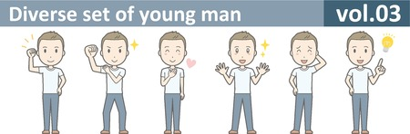 若い男が、EPS10 vol.03 の多様なセット