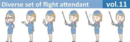 Diverse set van stewardess, EPS10 vol.11