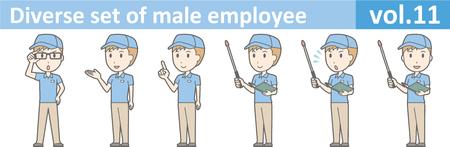 Diverse reeks van mannelijke werknemer, EPS10 vol.11