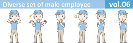Diverse set of male employee, EPS10 vol.06 向量圖像