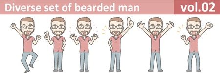 Diverse set of bearded man, EPS10 vol.02 版權商用圖片 - 71029464