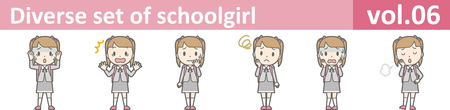 Diverse set of schoolgirl, vol.06