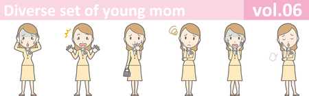 Diverse set of young mom, vol.06 Illustration