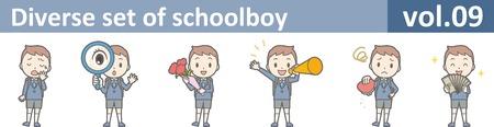 Diverse set of schoolboy, vol.09