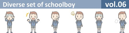 Diverse set of schoolboy, vol.06