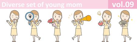 Diverse set of young mom, vol.09 Stock Vector - 71505877
