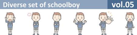 oh: Diverse set of schoolboy, vol.05 Illustration