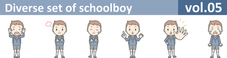 Diverse set of schoolboy, vol.05 Illustration