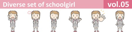 Diverse set of schoolgirl, vol.05