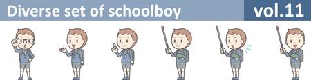 Diverse set van schooljongen, vol.11