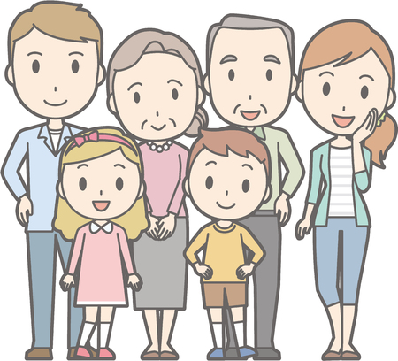 Happy family No.02 (family of 6)(3 generations)