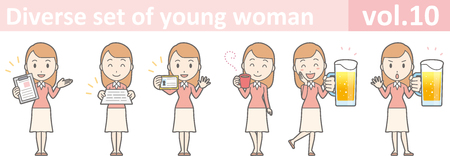 happy woman: Diverse set of young woman, EPS10 vol.10