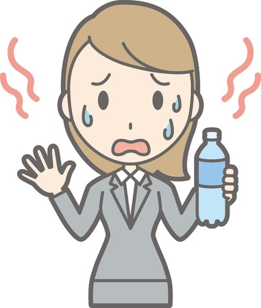 Illustration of a hot young lady in a suit