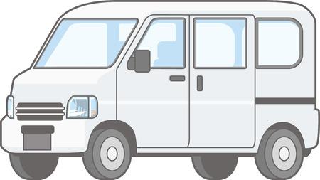 Illustrations of mini car vans