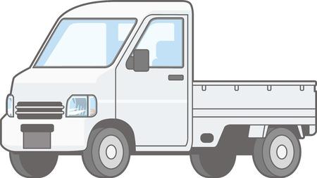 Illustratie van lichte autovrachtwagen