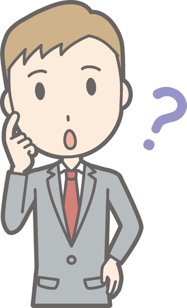 Illustrations wondering about a businessman wearing a suit