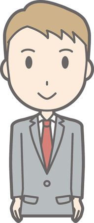 A man wearing a suit facing the front. Stock Vector - 85567264