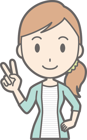 Young woman peace sign