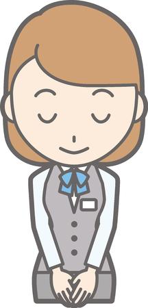 Illustration d & # 39 ; une femme habillée dans uniforme est un arc Banque d'images - 87574329